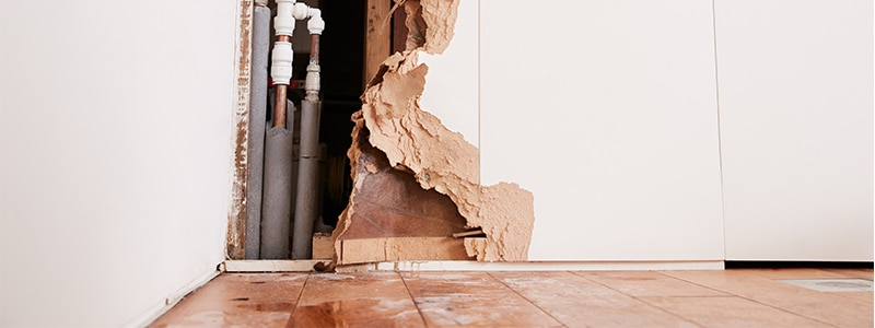 Water Damage from a burst pipe
